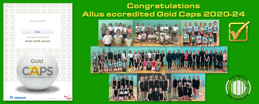 Allus accredited Gold Caps 2020-24