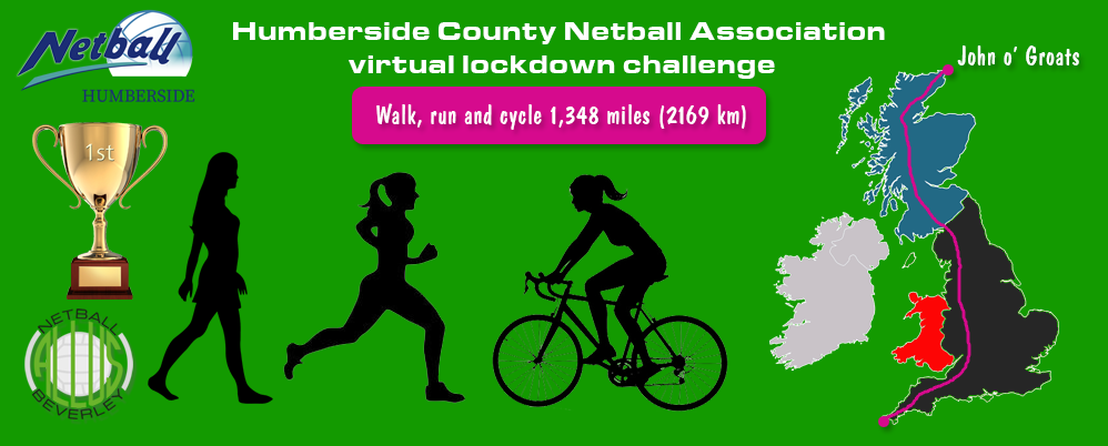 Humberside County Netball Association virtual lockdown challenge