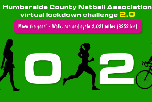 Humberside County Netball Association virtual lockdown challenge 2.0